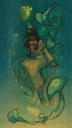 disney art Princess Tiger Lily from Peter Pan. Sometimes I wish she had a bigger part in that movie. Disney Dream, Disney Love, Disney Magic, Disney Fan Art, Deco Disney, Disney Couture, Disney E Dreamworks, Disney Pixar, Peter Pan Disney