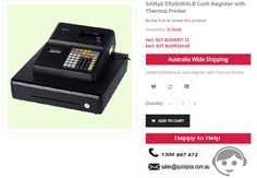 Get 20% Discount on SAM4S ER260RALB Cash Register with Thermal Printer from QuickPOS online store in Sydney..!  http://www.quickpos.com.au/cash-register-sam4s-er260ralb