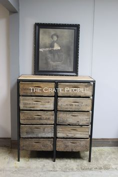 10 Vintage Crate Drawer Tall Boy Dresser - Custom Made Vintage Crate Furniture - Vintage Wood Crates and Barn Wood. FREIGHT SHIPPING : this item ships assembled and fully crated for protection. Shipping time will be approximately 3-8 business days once it leaves our warehouse. The carrier will call you to schedule a delivery appointment. We suggest having 2-3 extra helping hands available for delivery since the item will not be brought inside by the freight carrier. Custom orders begin...
