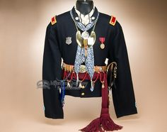 This is an authentic decorative Native Americanwool scout shirt, handcrafted by the famous Creek Indians of Oklahoma. This warrior shirt represents a rich Indian culture during the 1800's Civil War e
