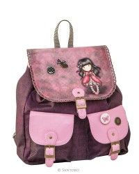 Two Pocket Backpack With Flap - Ladybird, Santoro's Gorjuss