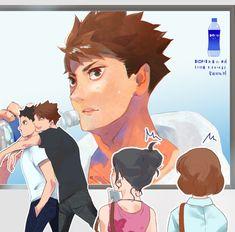 Haikyuu Funny, Haikyuu Ships, Haikyuu Fanart, Hiro Big Hero 6, Kurotsuki, Akaashi Keiji, Volleyball Anime, Haikyuu Wallpaper, Iwaoi