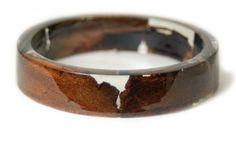 Real Bark Jewelry  Real Bark Bangle Resin by ModernFlowerChild