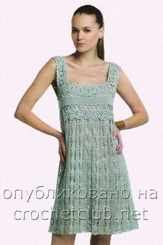 vestido de crochê | Gráficos e Receitas