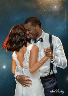 Couple Drawings, Black Art, Couples, Illustration, Beautiful, Couple, Engagement, Drawings Of Couples, Illustrations