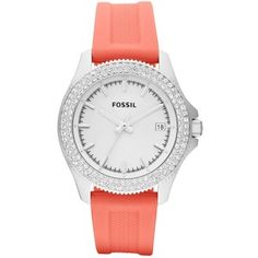 Fossil Watch, Women's Retro Traveler Coral Silicone Strap 36mm AM4464