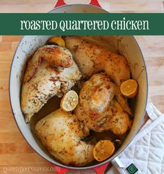 Pin it. Quartered Chicken, Roasted Thanks to our budget challenge this month. we are working our way through the freezer. I found a package of a quartered fryer chicken in the bottom drawer of the freezer and it's been in there longer than I'd like to admit. I bought it (ages ago) because it was only $3.24 …