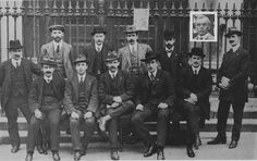 1914 - Labour in 1914    One of the oldest surviving pictures of the founders of the Labour Party. Included are James Connolly, Jim Larkin, William O'Brien, P.T. Daly and Tom Johnson (inset image).