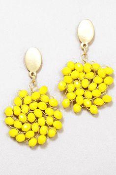 Yellow Spots Earrings - Fanaberie