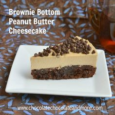 Mascarpone cheese makes this cheesecake lighter and a splash of Kahlua brings out the peanut butter flavor.