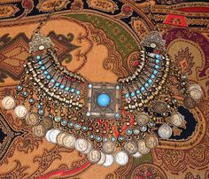 Bronze & Turquoise Moroccan Gypsy Boho Statment by CenturyAndRag, $32.00