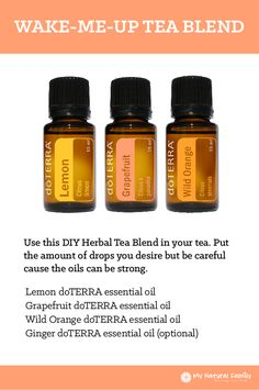 doTERRA Wake-Me-Up Tea Blend Recipe