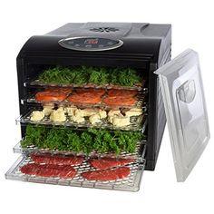 MAGIC MILL Pro Food Dehydrator 6 Drying Racks 8 Digital Preset Temperature Set