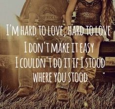 Lee Brice. Hard to Love. I think I want this song dedicated to my future husband at our wedding!! Haha this is soo true about me