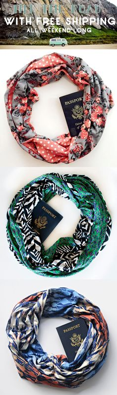 Speakeasy Summer Travel Scarves >>> Gear up for adventure with FREE SHIPPING extended until the end of May!!!