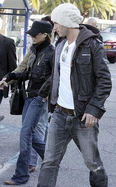 David Beckham in Superdry Brad Leather Jacket