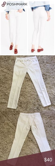 Like 🆕 J. Crew Ankle Jean + J. Crew's skinniest style  + Premium stretch cotton  + Midrise  + Don't forget to bundle!  + Mint condition  ⭐️All items are steamed cleaned and shipped within 48 hours of your purchase.   ⭐️If you would like any additional photos or have any questions please let me know.  ⭐️Sorry, no trades. But will listen to ALL fair offers. Thanks for shopping! J. Crew Jeans Ankle & Cropped