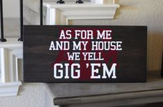 11in. by 24in. Texas A&M wood sign As for me by SadieJayDesigns, $45.00