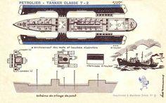 Free vintage printable Pétrolier-Tanker Classe T-2