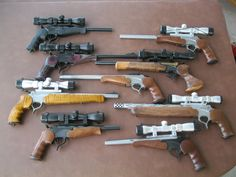 My favorite gun collection. Weapons Guns, Guns And Ammo, Revolver Pistol, Revolvers, Survival Rifle, Thompson Center, Hunting Guns, Military Guns, Cool Guns