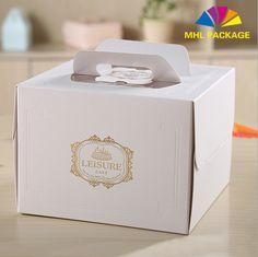 Paperboard hotsale window cake box packaging