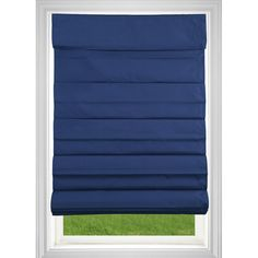 This shade features a back liner to give a clean and uniform out facing appearance. No tangled cords to operate, simply raise and lower with one hand. This Roman Shade has been certified by parents for window blind safety and best for kids to be child safe products.