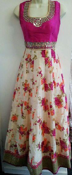 Anarkali Suit Floral | eBay