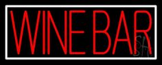 Red Wine Bar With White Border Neon Sign 13 Tall x 32 Wide x 3 Deep, is 100% Handcrafted with Real Glass Tube Neon Sign. !!! Made in USA !!!  Colors on the sign are Red And White. Red Wine Bar With White Border Neon Sign is high impact, eye catching, real glass tube neon sign. This characteristic glow can attract customers like nothing else, virtually burning your identity into the minds of potential and future customers.