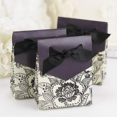 Floral Tent Wedding Favor Boxes (Pack of 25)