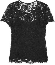 ShopStyle: DKNY Floral-lace top