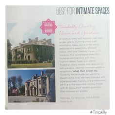 We are honoured to have won the IMAGE Brides venue awards for best intimate space. Thanks to everyone who voted for us and helped make this happen! Country House Hotels, Irish Sea, Victorian Architecture, Oak Tree, Brides, Awards, Mansions, Space, Mansion Houses