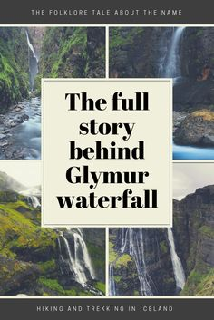 Glymur waterfall is known to be the second highest waterfall in Iceland. But it's less known how Glymur Waterfall got it's name. Read the full story! Iceland Viking, Iceland Pictures, Travel Destinations, Travel Tips, Iceland Waterfalls, Waterfall Hikes, Iceland Travel, Roadtrip, Day Hike