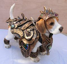 Good morning, Beagle-in-Armor! I love you, Beagle-in-Armor. Best Dog Costumes, Pet Halloween Costumes, Pet Costumes, Puppy Costume, Halloween 2014, Halloween Party, Dog Armor, Costume Chien, Mode Steampunk