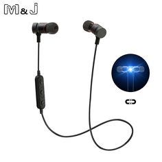 Bluetooth Headphones magnet Wireless In-Ear Noise Reduction earphone with Microphone Sweatproof Stereo tereo Bluetooth Headset #Affiliate