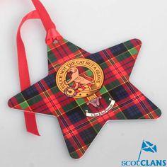 MacPherson Clan Crest Christmas Ornament