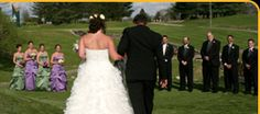 Eagle Pointe Golf Resort is a popular venue for outdoor wedding ceremonies.