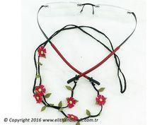 N-G900003 İpek İğne Oyası Gözlük Askısı Lanyards, Handicraft, Glasses, Jewelry, Herbs, Craft, Eyewear, Eyeglasses, Jewlery