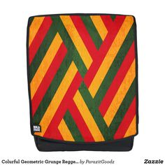 Shop Colurful Geometric Grunge Reggea Texture Backpack created by ParazitGoodz. Music Backpack, Pouch, Wallet, Reggae, Unique Art, Cosmetic Bag, Grunge, Ethnic, Stripes