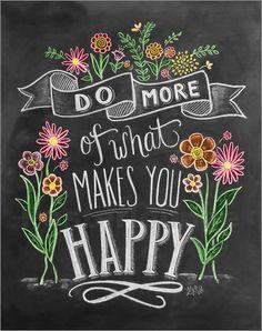Poster Dich glücklich machen