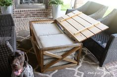 Crazy Wonderful: DIY outdoor coffee table | with storage