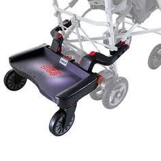 Patinete Buggy Board que se acopla a la silla del bebé para que el hermano mayor no se canse.