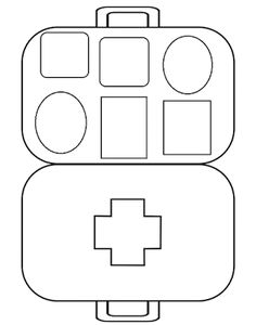 Medical Clip Art, Community Helpers Crafts, Art For Kids, Crafts For Kids, Doctor Office, Work Activities, First Aid Kit, School Projects, Girl Scouts
