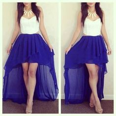 dress, blue, and white -kuva