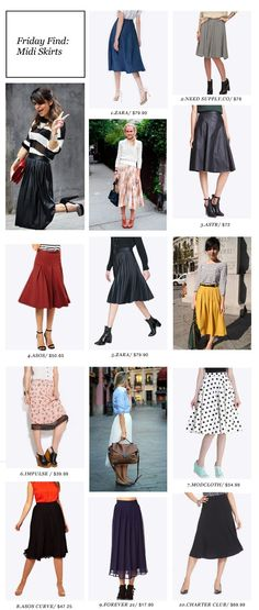 love midi skirts. i need more in my closet