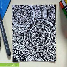 Design To Draw Doodles Zentangle Patterns Ideas Mandalas Painting, Mandala Artwork, Mandalas Drawing, Easy Mandala Drawing, Doodle Designs, Doodle Patterns, Zentangle Patterns, Zentangles, Easy Zentangle