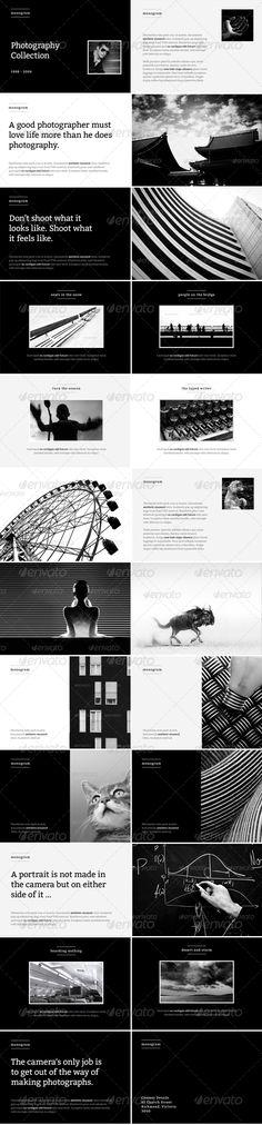 Monogram - Photo Album or Folio Template - GraphicRiver Item for Sale