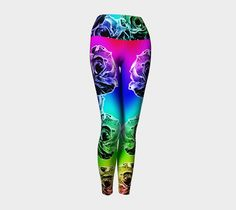 "Yoga Leggings ""Rose spectrum"" by Mindgoop"