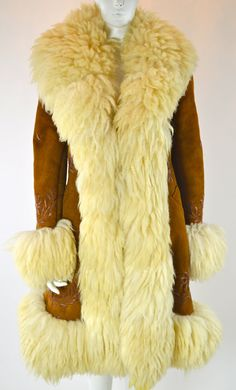 MONGOLIAN FUR Mongolian Fur Coat / Suede and by MyrtleBedford, $3000.00