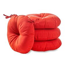 Outdoor Cushions  Greendale Home Fashions Round Indoor/Outdoor Bistro Chair Cushion, Salsa Red, 15-Inch, Set of 4 Backyard makeover ** This is an Amazon Associate's Pin. Find similar products on the website by clicking the VISIT button.