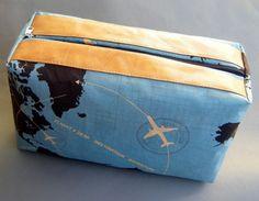 große Kulturtasche Aviator mit Leder von lauterlieblingsstuecke auf DaWanda.com